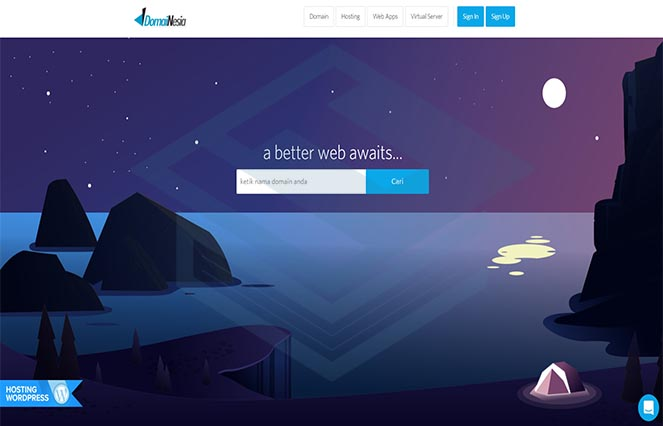 tampilan-awal-website-domainesia-review